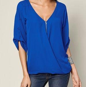 Venus faux wrap blouse